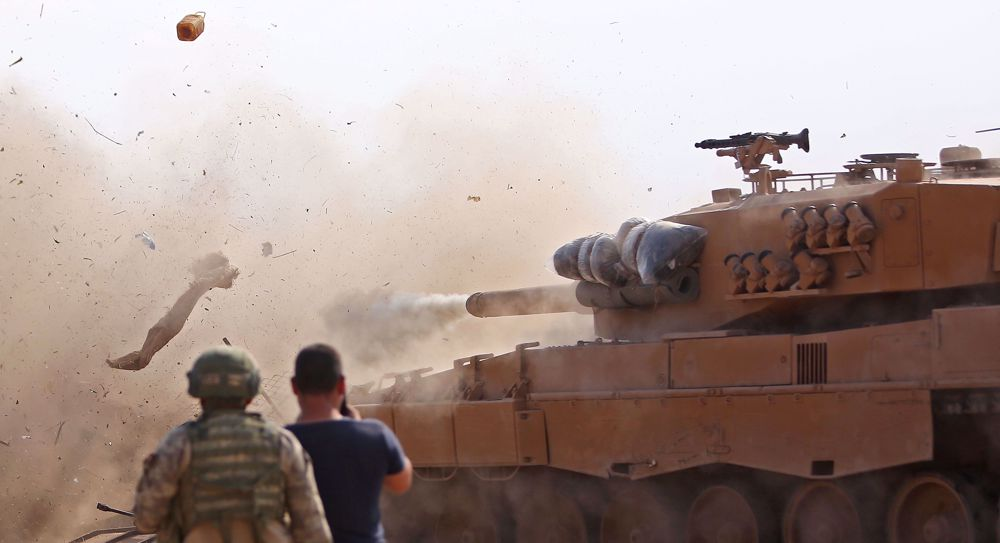 Turkish forces, allied militants shell town in northeastern Syria