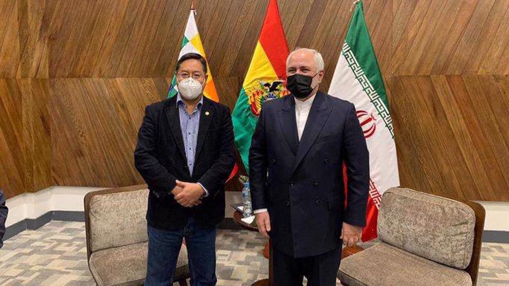 FM Zarif stresses boosting ties in meeting with Bolivia president-elect