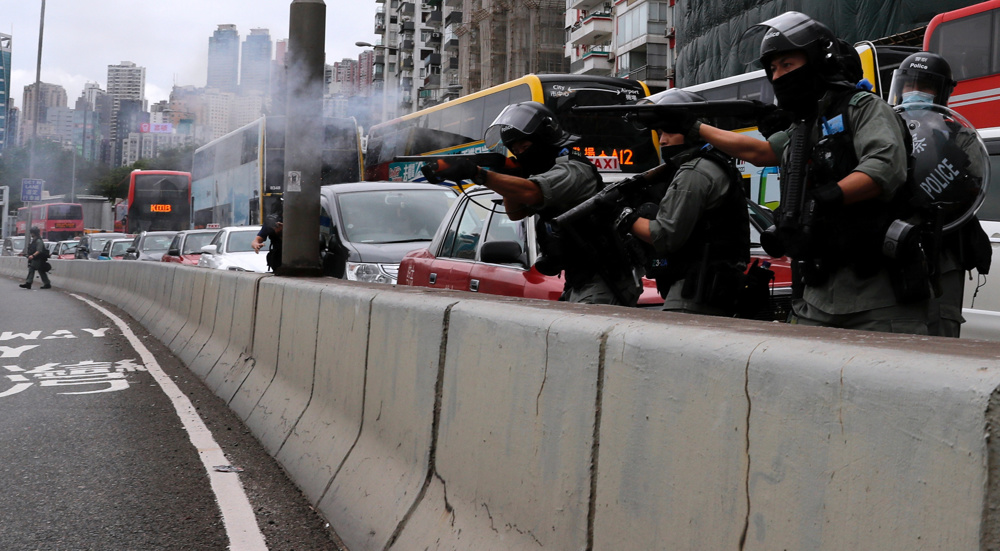 Protest erupts in Hong Kong over proposed security law