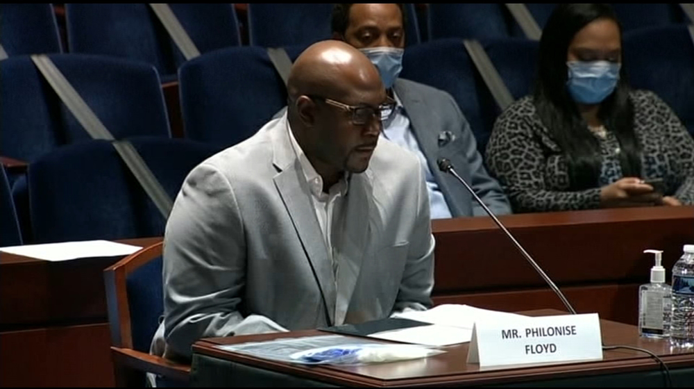 Floyd's brother tells Congress to end 'modern-day lynching' of blacks