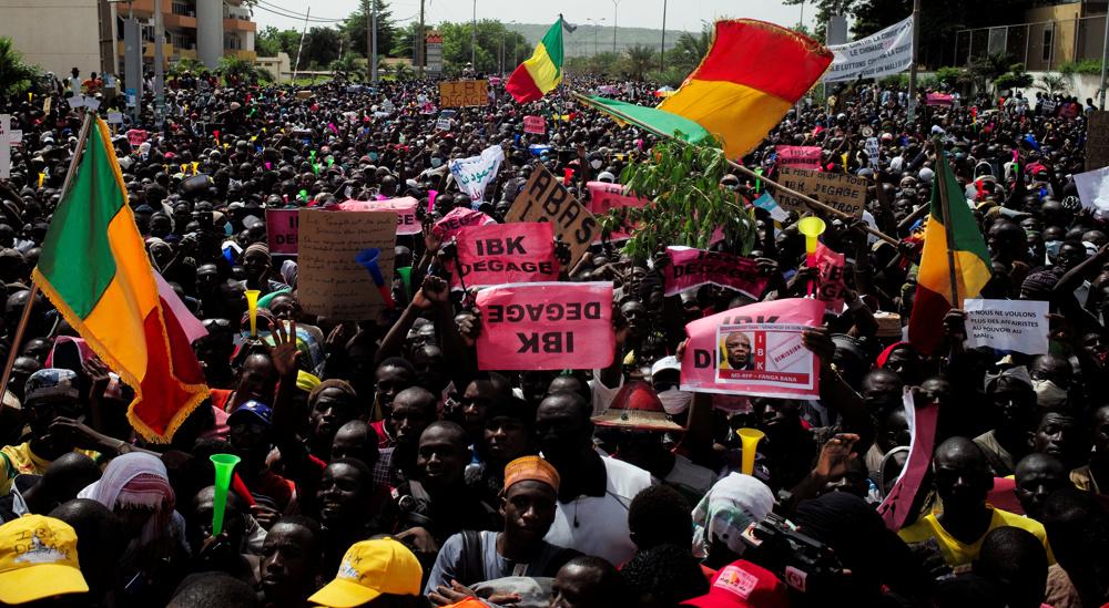 Malians on streets in Bamako call for resignation of President Keita