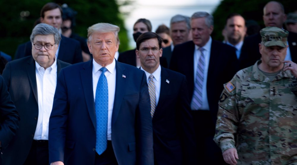 Pentagon chief breaks with Trump on using military to crush protests