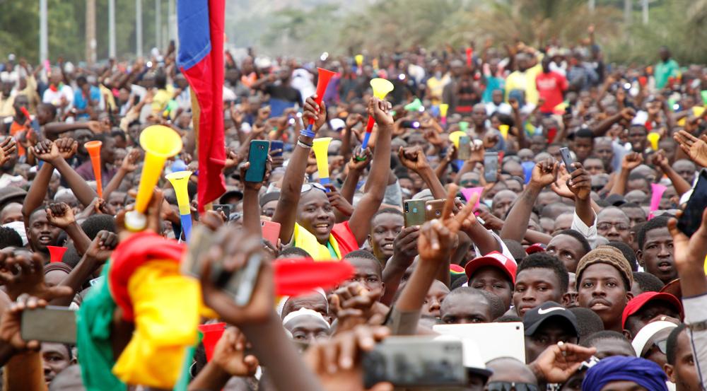 Thousands take to Bamako streets to celebrate overthrow of Malian President