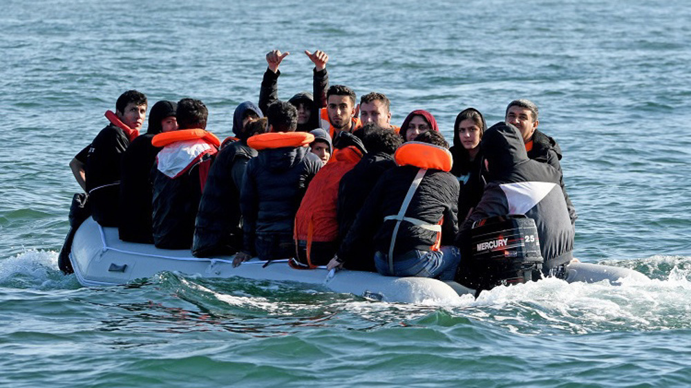 Surge in migrants crossing the English Channel at weekend
