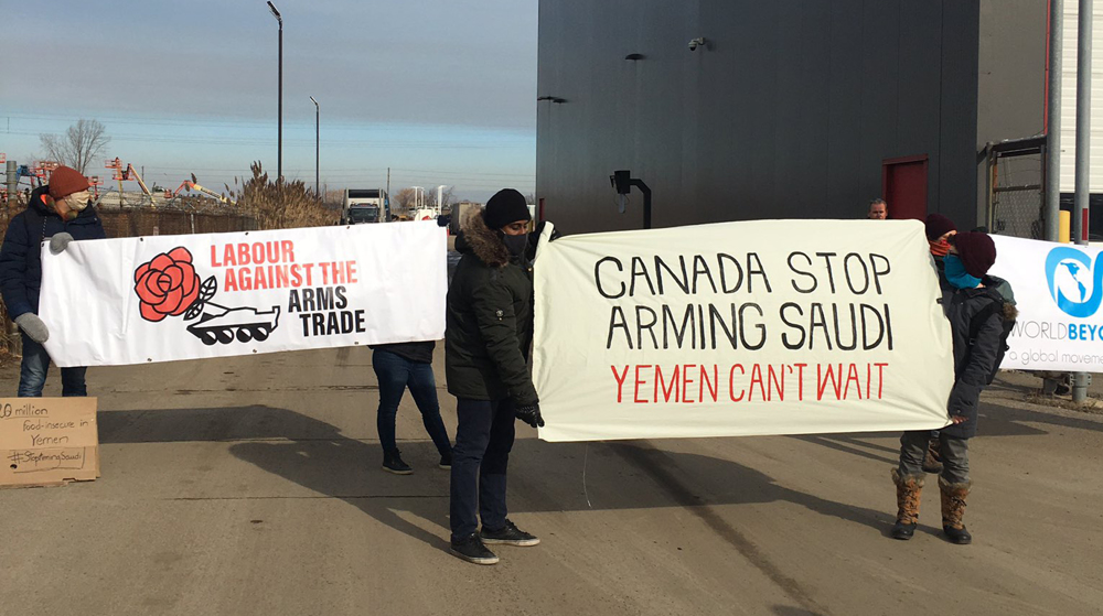 Canada protesters renew push to end arms exports to Saudi Arabia