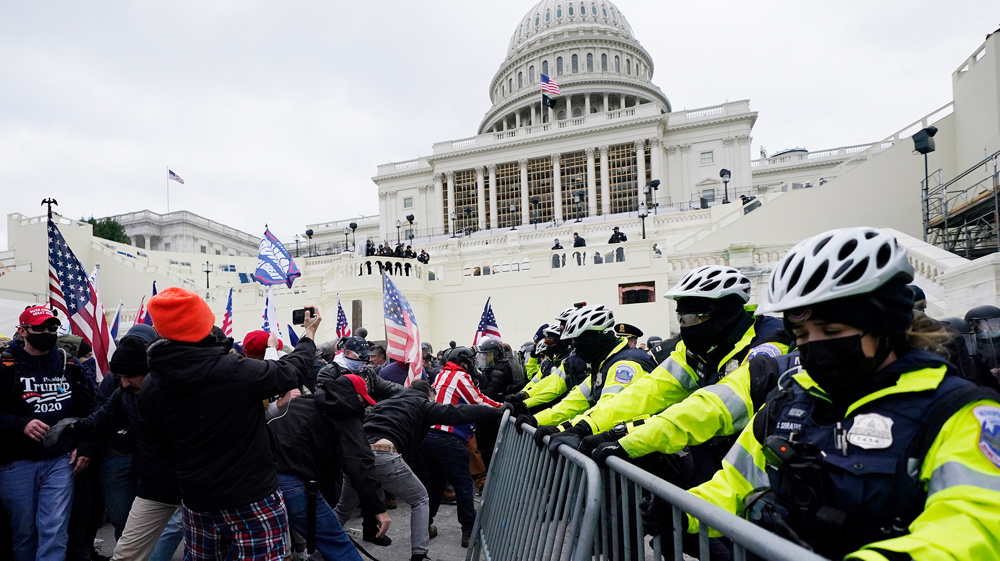 Protesters occupy US Capitol during Electoral College vote
