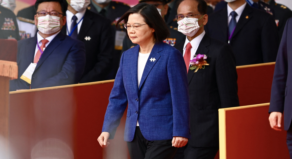 Taipei president vows to bolster military, not 'let our guard down' against China