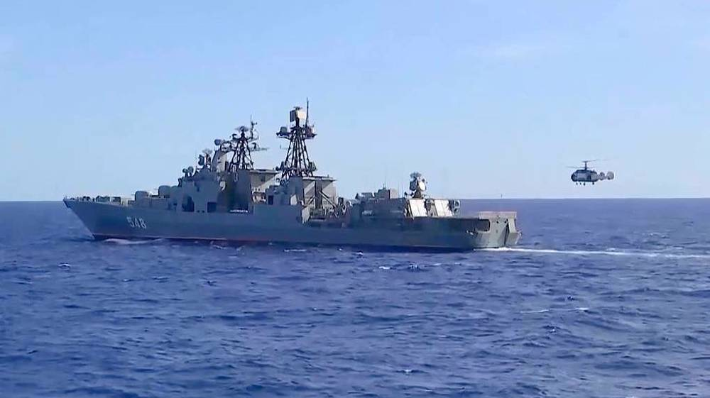 Russia, China launch joint naval drills in Sea of Japan