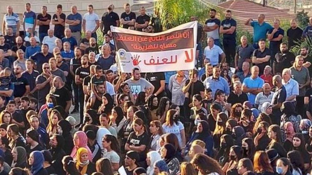 Palestinians rally to slam Israeli police for complicity in rising gang violence