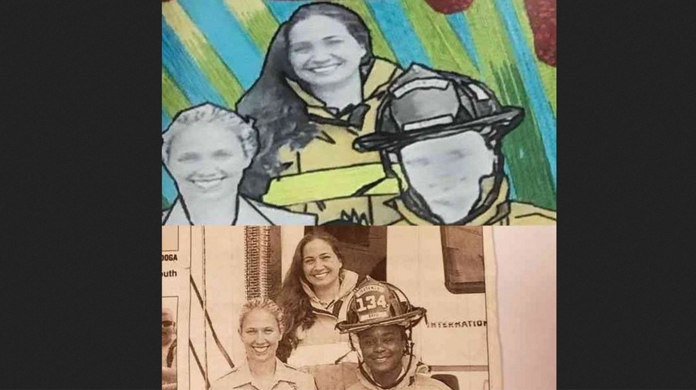 Black firefighter sues over image depicting her as White