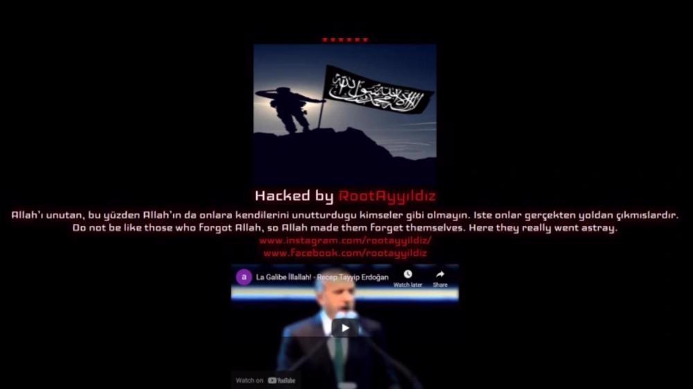 Donald Trump's website allegedly hacked