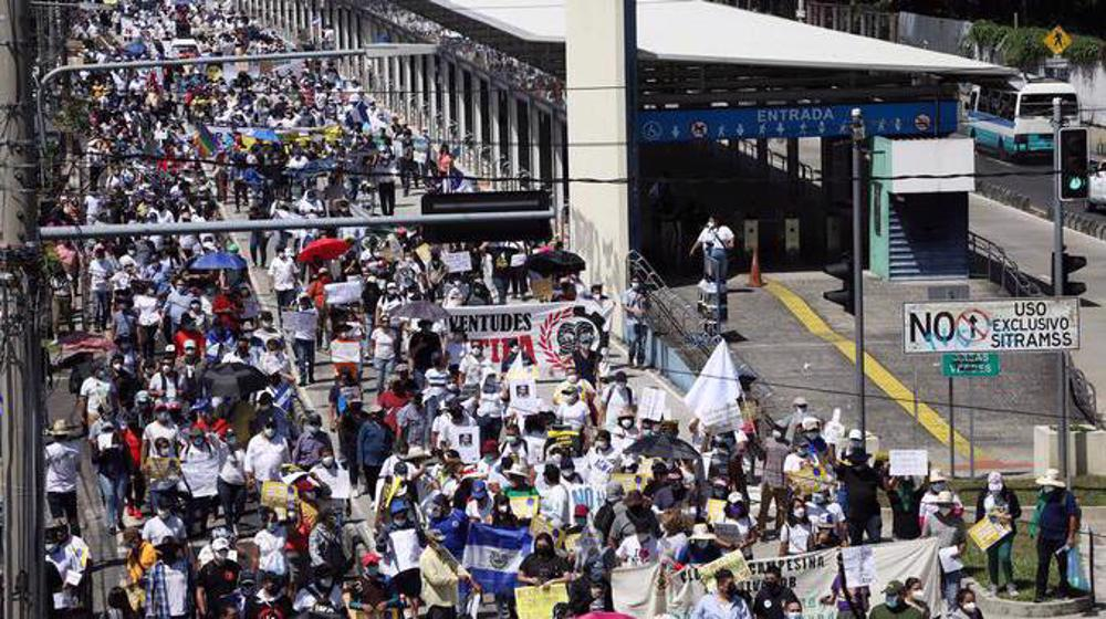 Thousands in El Salvador protest against Bukele government