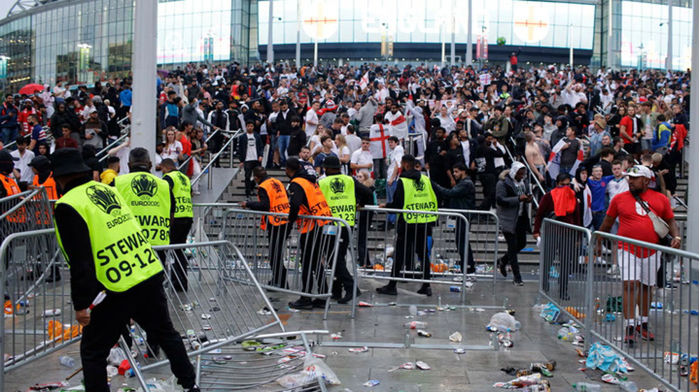 England given 1 game without fans over Wembley chaos