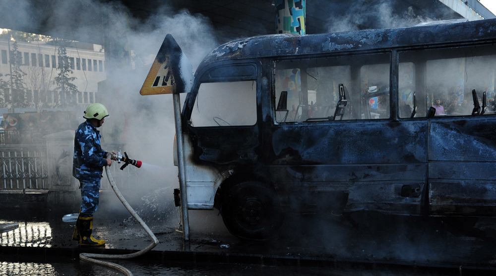 Iran, Russia, resistance movements condemn Damascus blast
