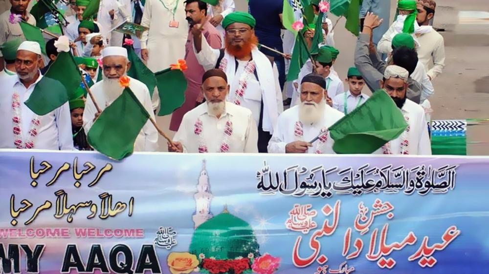Muslims in Pakistan mark birthday anniv. of Prophet Muhammad