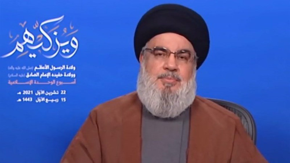 Muslims must stand against normalization with Israel by any means: Nasrallah