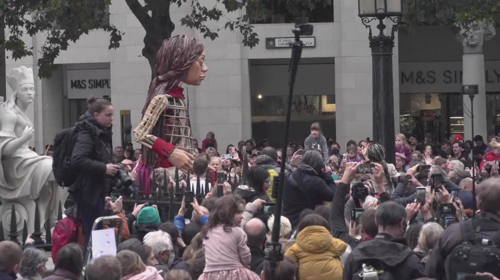 Little Amal puppet arrives in UK raising awareness about refugees