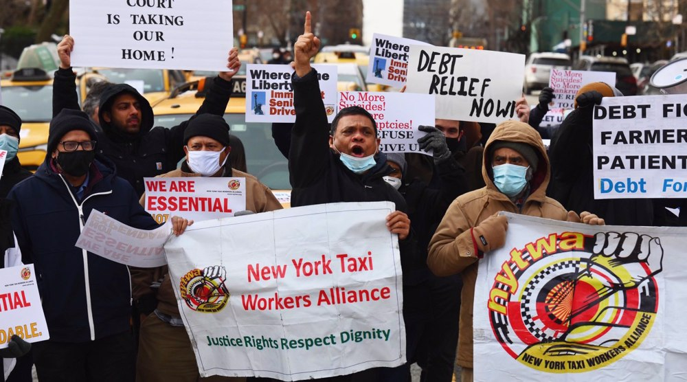 New York City taxi drivers on hunger strike to demand debt relief
