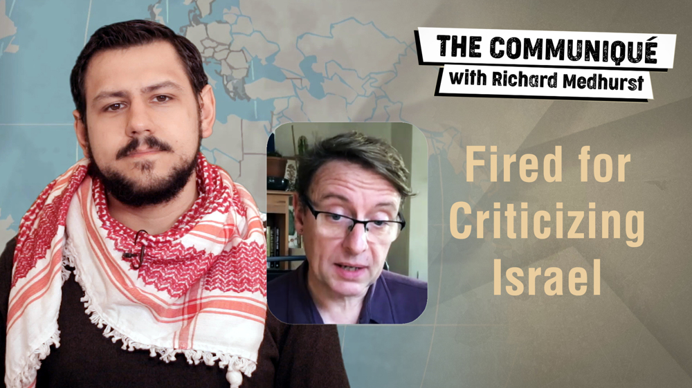 Fired for criticizing Israel