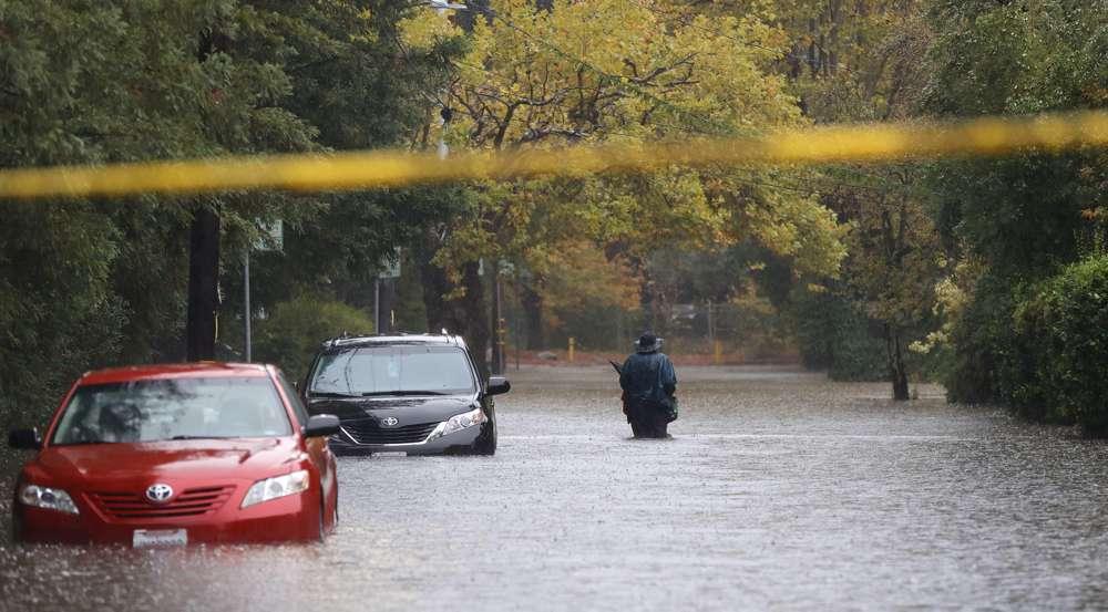 Flash floods hit northern California near town San Francisco