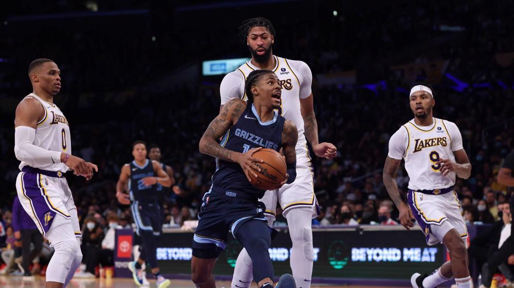 NBA: Los Angeles Lakers 121-118 Memphis Grizzlies