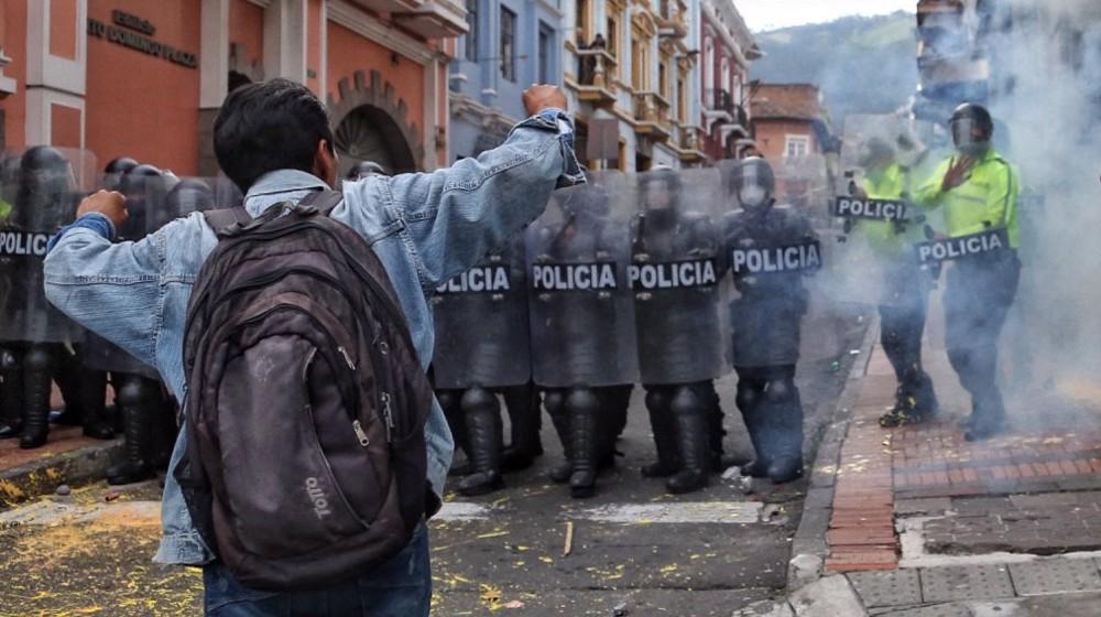 Police clash with protesters in Ecuador, dozens arrested