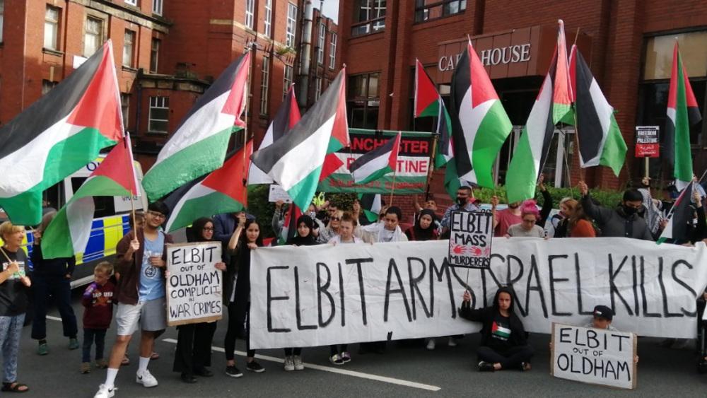 Complicit: activists demand Israeli weapons maker shut