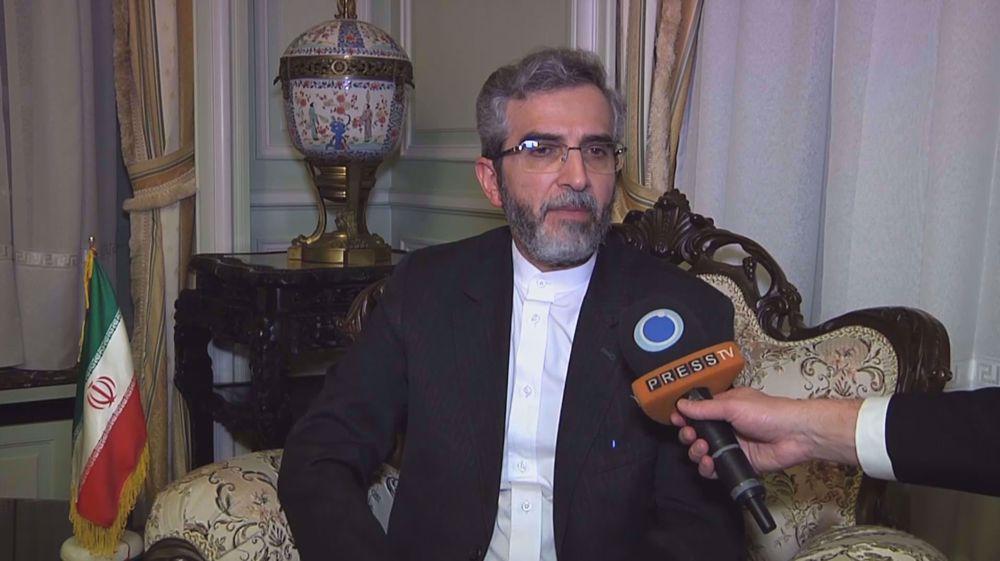 Iran's top negotiator to Press TV: JCPOA violators far from negotiating table