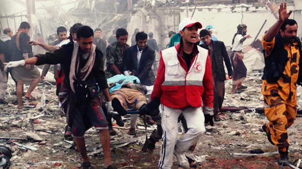Yemenis commemorate anniversary of 2016 Sana'a funeral airstrike