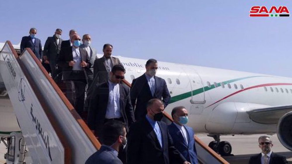 Iran foreign minister in Syria with pledge of strong support