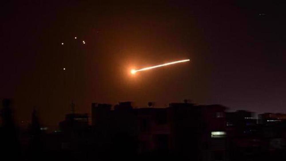 Syrian air defenses intercept Israeli missiles near Damascus