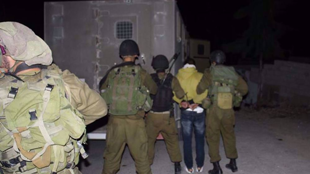 Israeli forces injure Palestinian, detain scores in West Bank