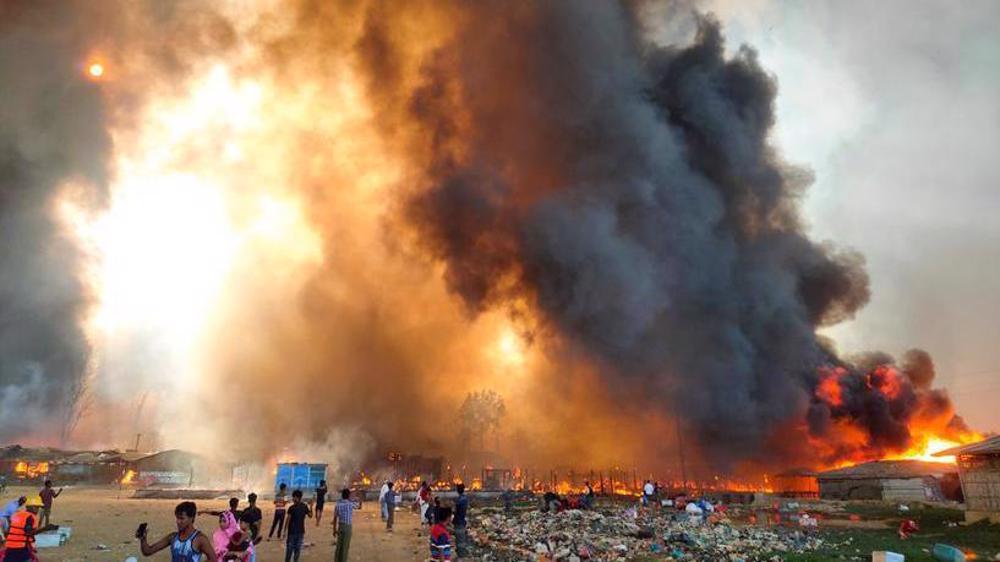 Fire at Rohingya camp in Bangladesh kills several: Witnesses