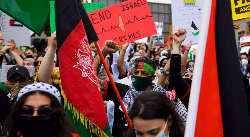 Protesters in US cities urge Israel to end occupation, bloodshed in Palestine