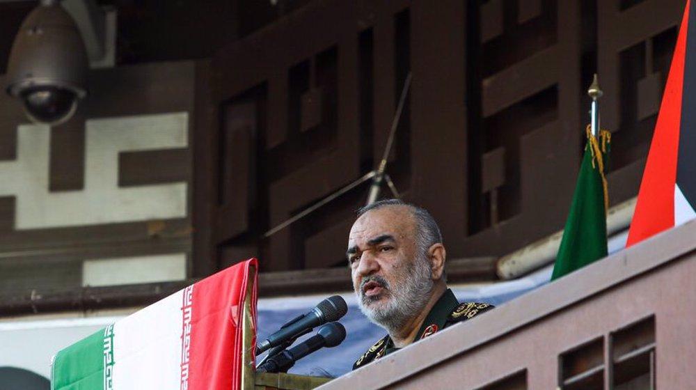 Zionist regime facing eternal defeat, IRGC cmdr. tells pro-Palestine rally