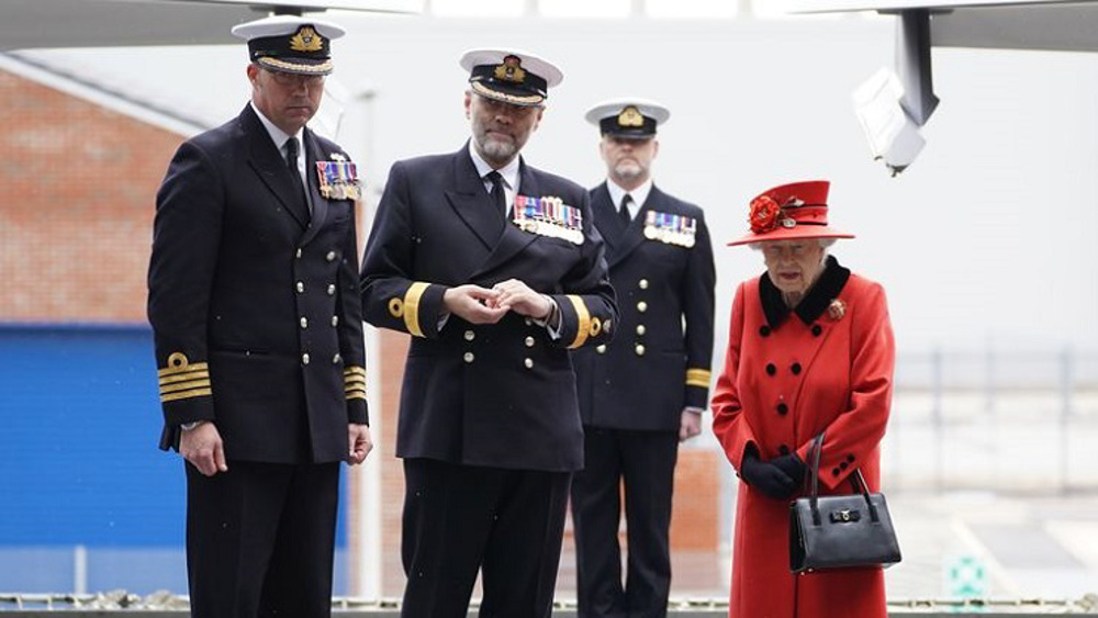 Queen visits Royal Navy aircraft carrier prior to its deployment to Indo-Pacific