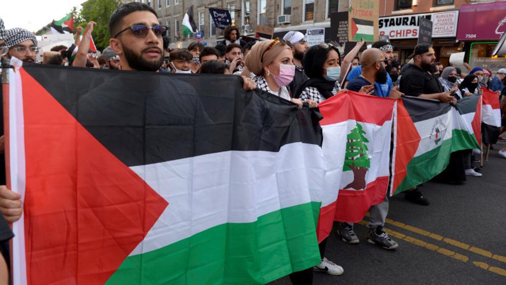 Huge rally in Washington anti-Palestine atrocities as US MPs back Israel