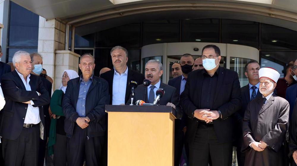 Palestinian officials hold sit-in, condemn Israel's ban on Palestinian media