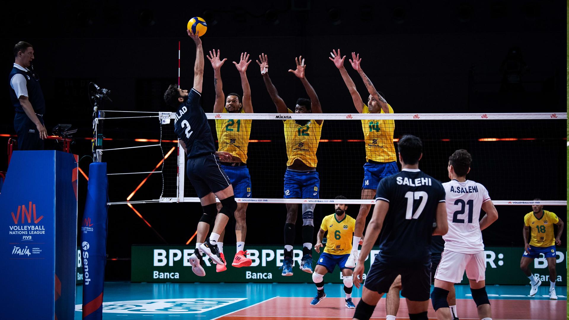 Volleyball Nations League: Iran 1-3 Brazil
