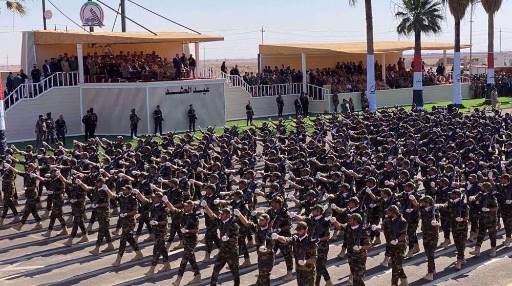 Iraq's Hashd al-Sha'abi marks 7th anniversary with military parade