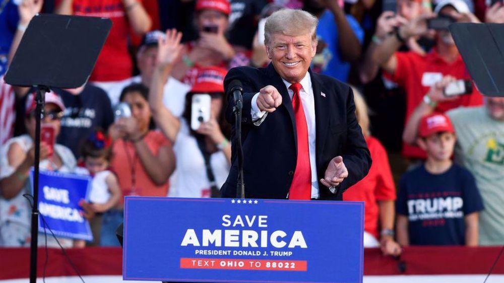 At rally in Ohio, Trump knocks Biden on border, hints at 2024 plans