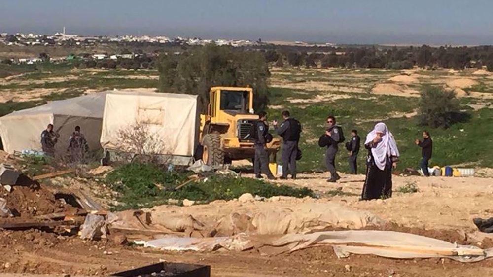 Israel demolishes Palestinian Bedouin village of al-Araqib for 189th time