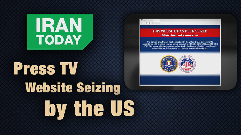 Press TV website seized by the US