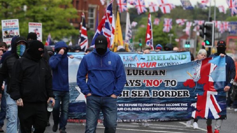 Loyalists rally in Portadown against NI Protocol