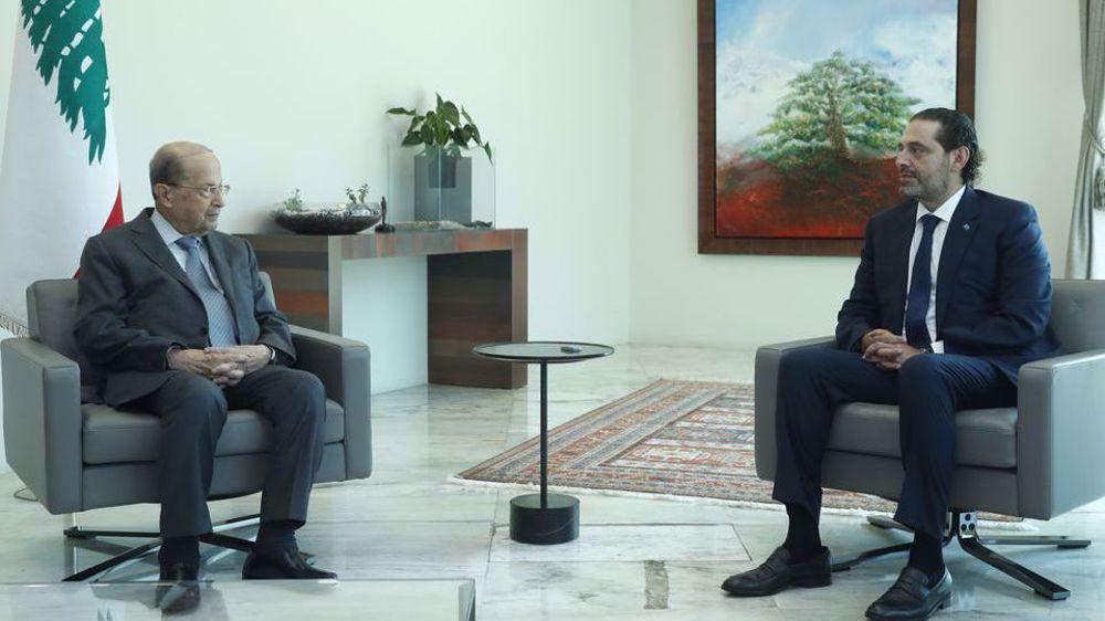 Lebanon's PM-designate Hariri presents cabinet lineup to President Aoun