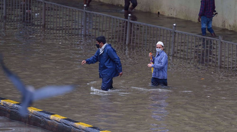 Roads flooded in Mumbai after heavy monsoon downpour