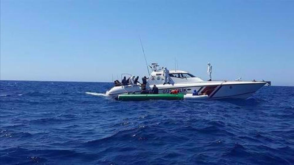 Refugee boat sinks off Turkey with 45 on board