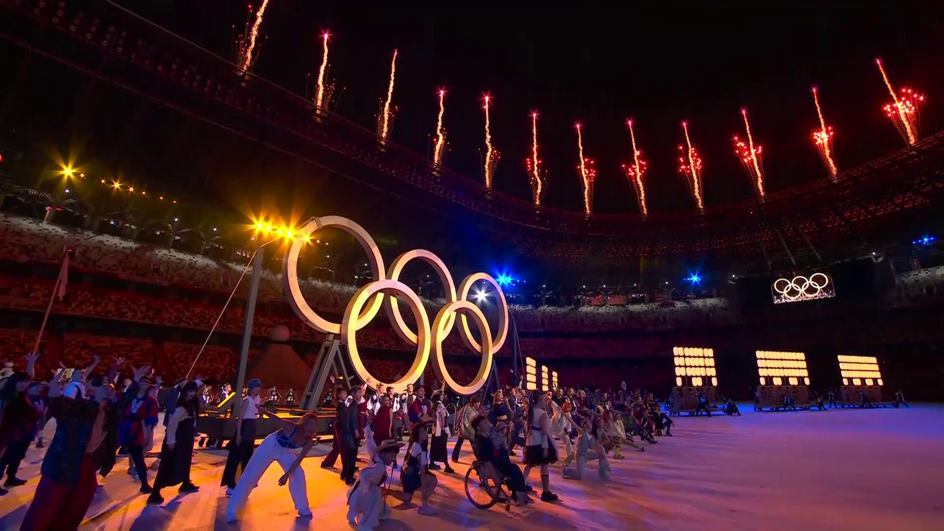 Fireworks mark start of Olympics opening ceremony
