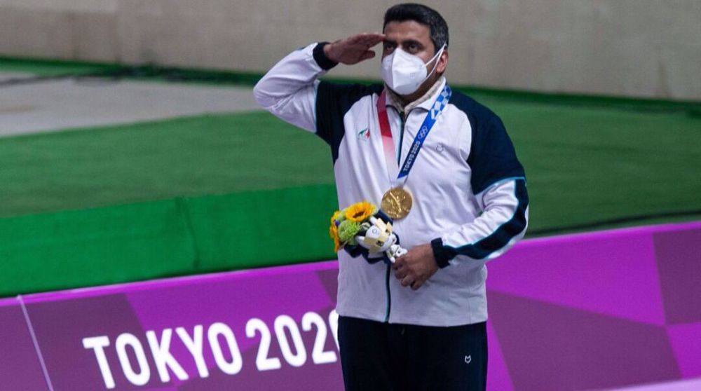 Sports shooter Foroughi wins Iran's first Tokyo Olympics gold medal
