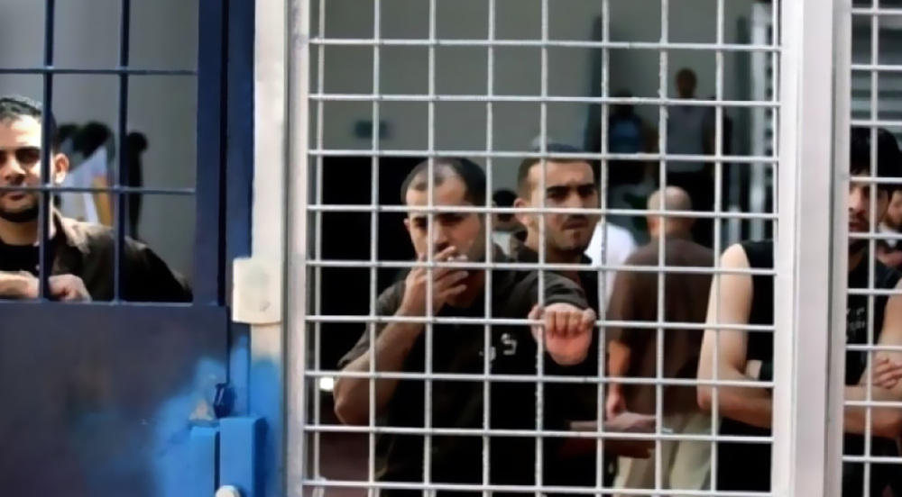 Palestinian prisoners on hunger strike in protest to illegal detention